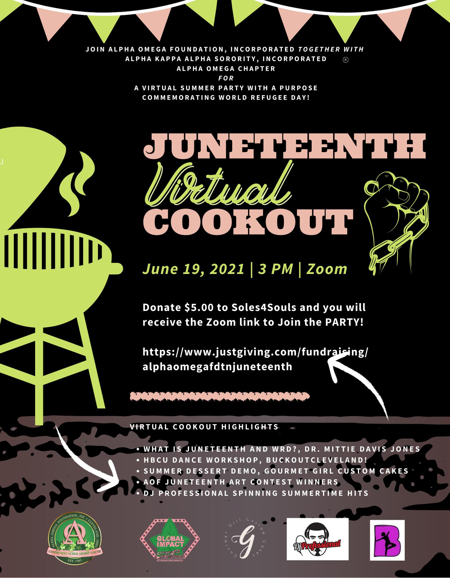 Juneteenth virtual cookout