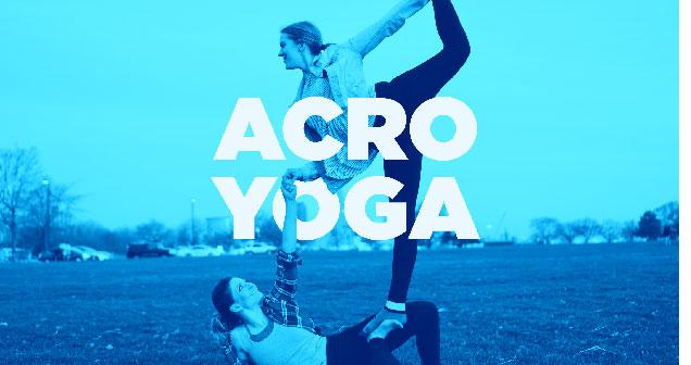 ladies doing acro yoga