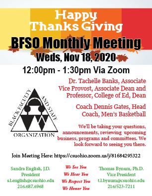 BFSO Wed Nov 18 2020 Meeting Announcement