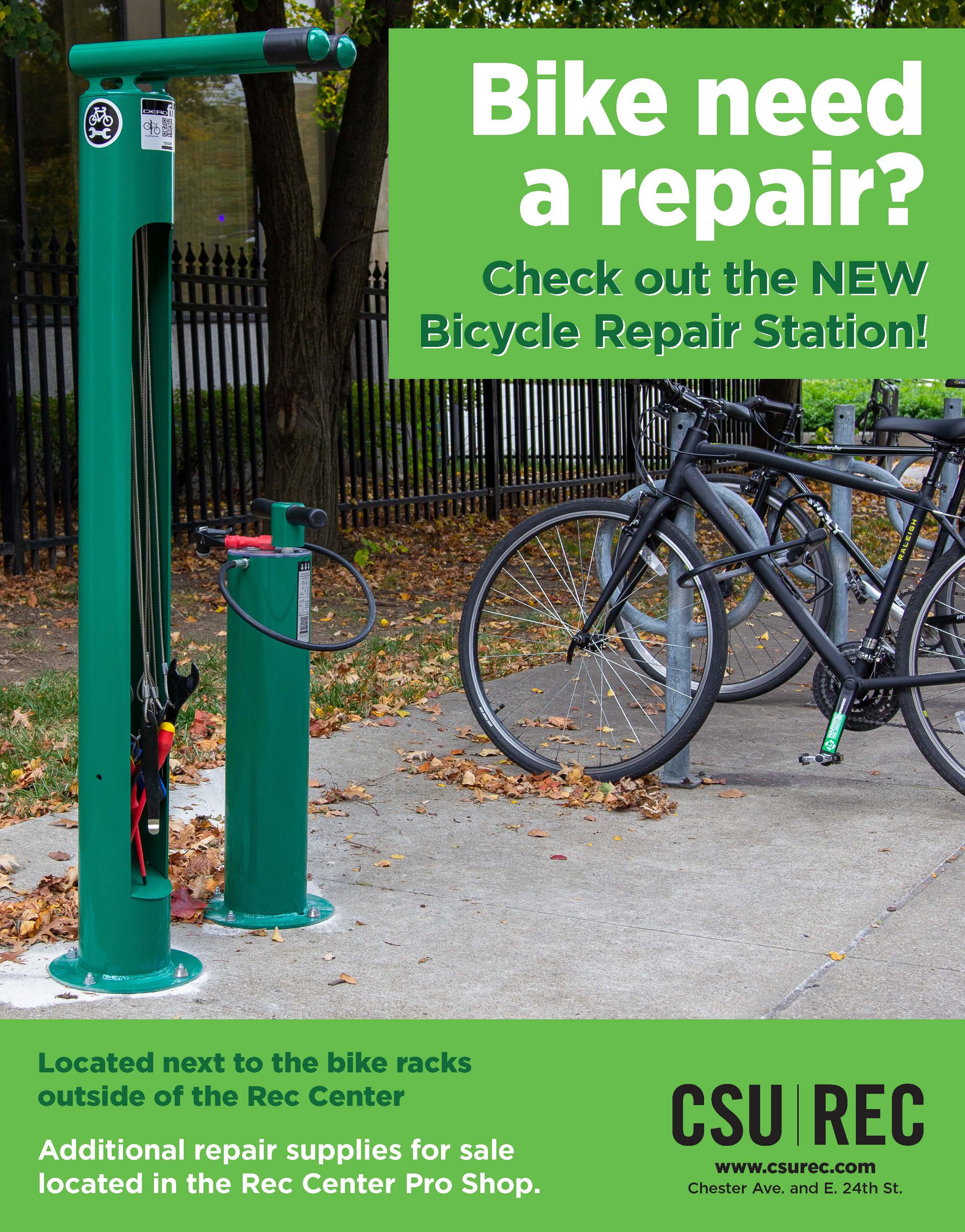 Fixit bike repair station flyer