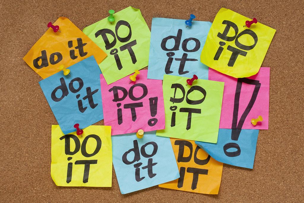 Post it notes for procrastination