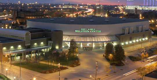 Wolstein Center at Night