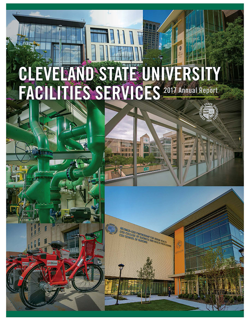 2017 Facilities Services Annual Report Cover