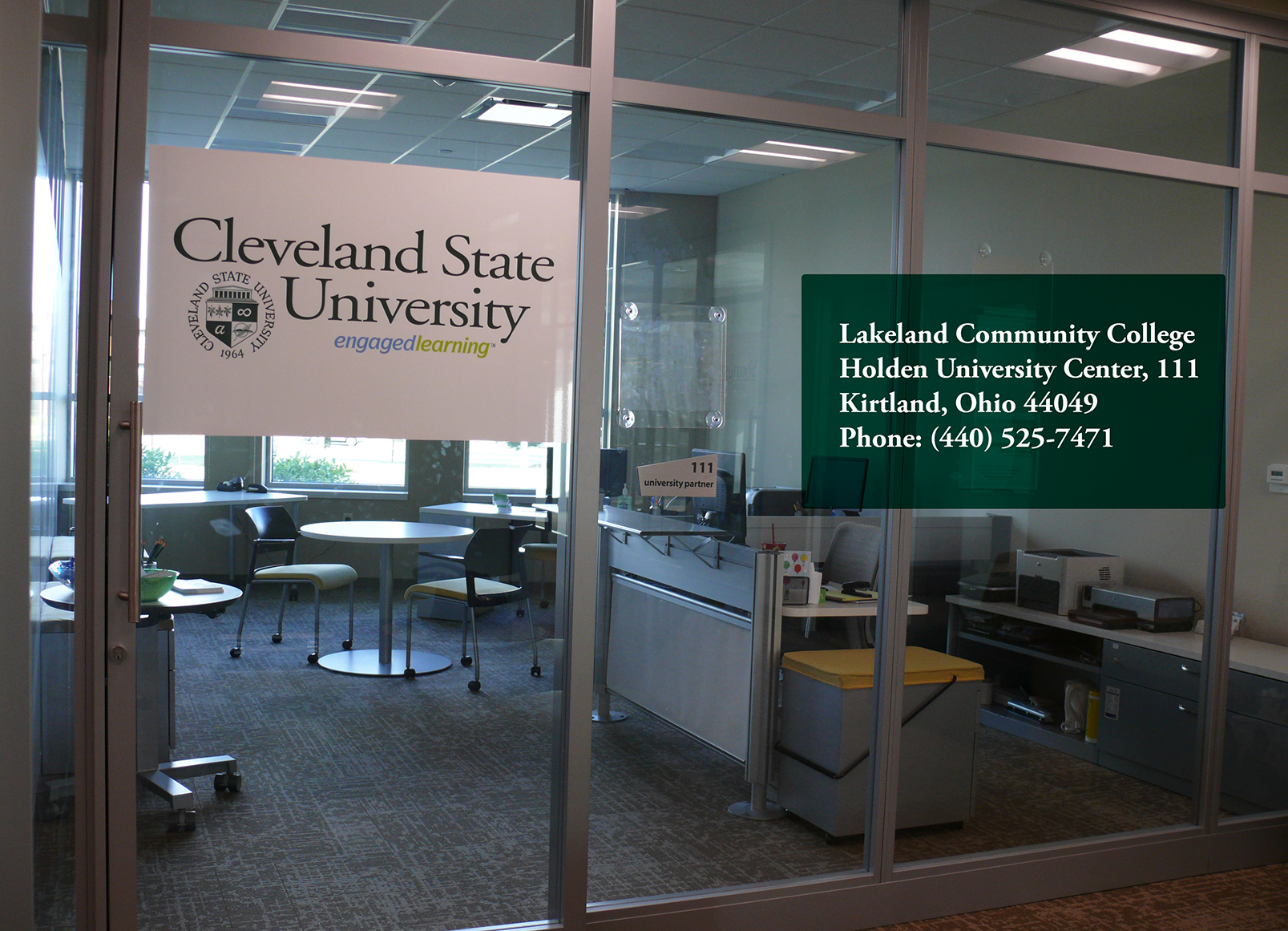 The Partnership office is at the Lakeland Community College Holden University Center, 111 Kirtland, OH 44094  Phone: (440) 525-7471