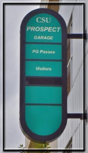 Prospect Garage Entry Sign