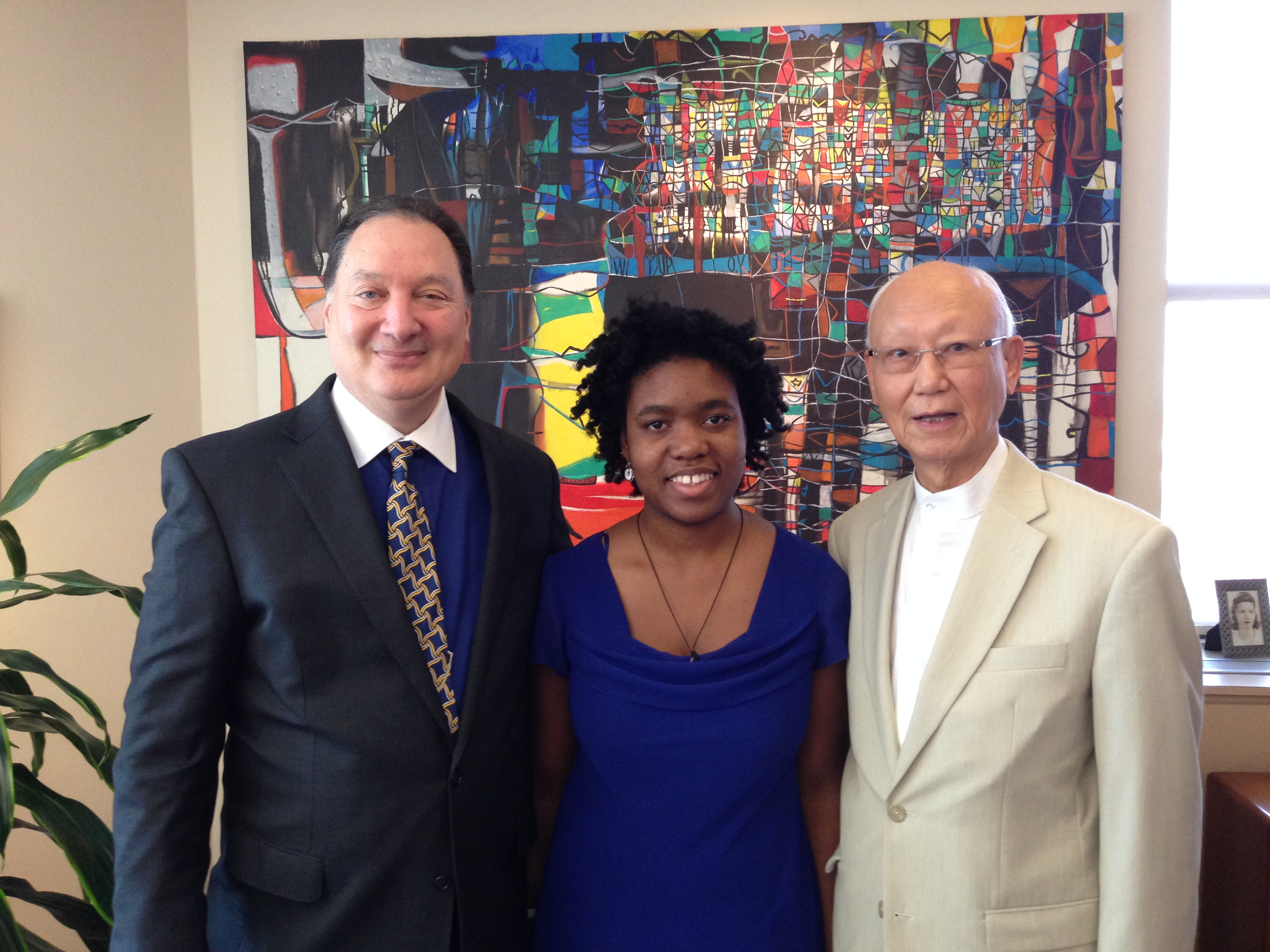 Royale Nicholson, Cleveland Foundation CEO Ron Richard, Chairman of CI Trustee Council Dr. Anthony Yen