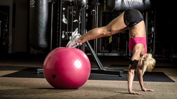 Pike Press on Exercise Ball