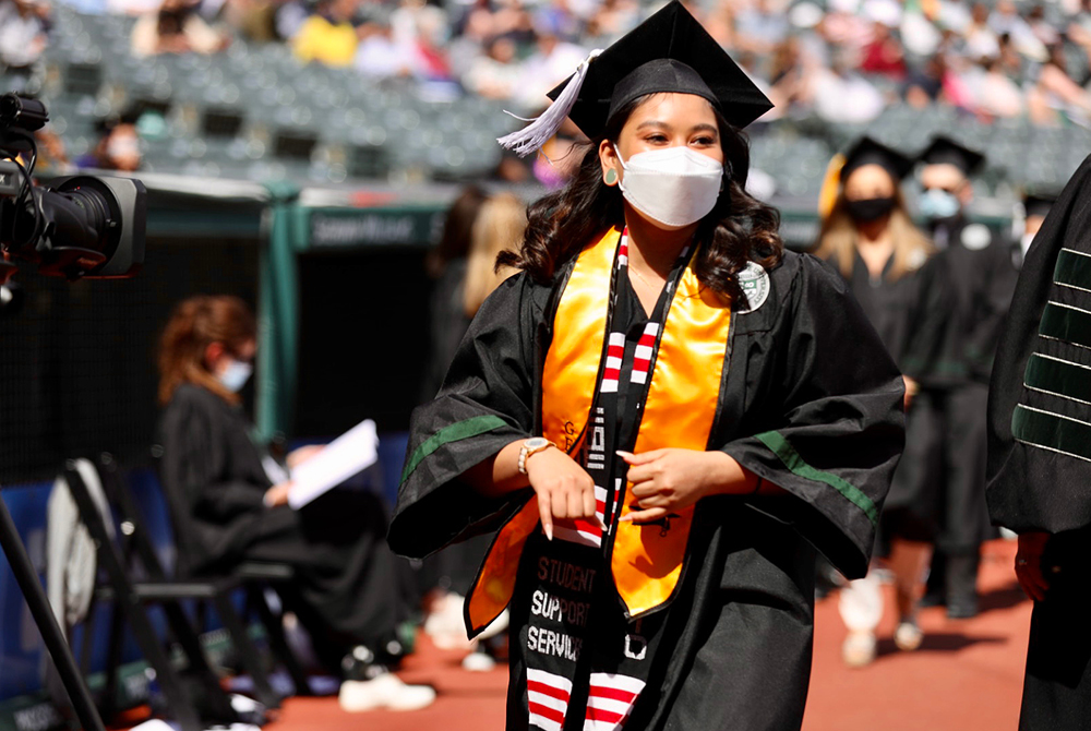 Student at Spring 2021 Commencement