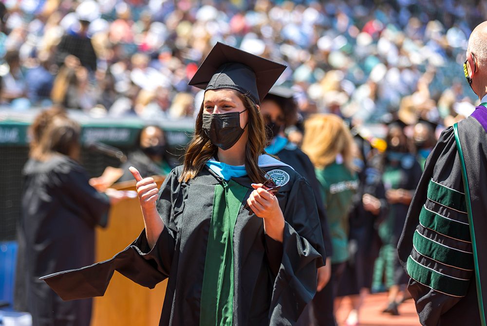 Students at Spring 2021 Commencement