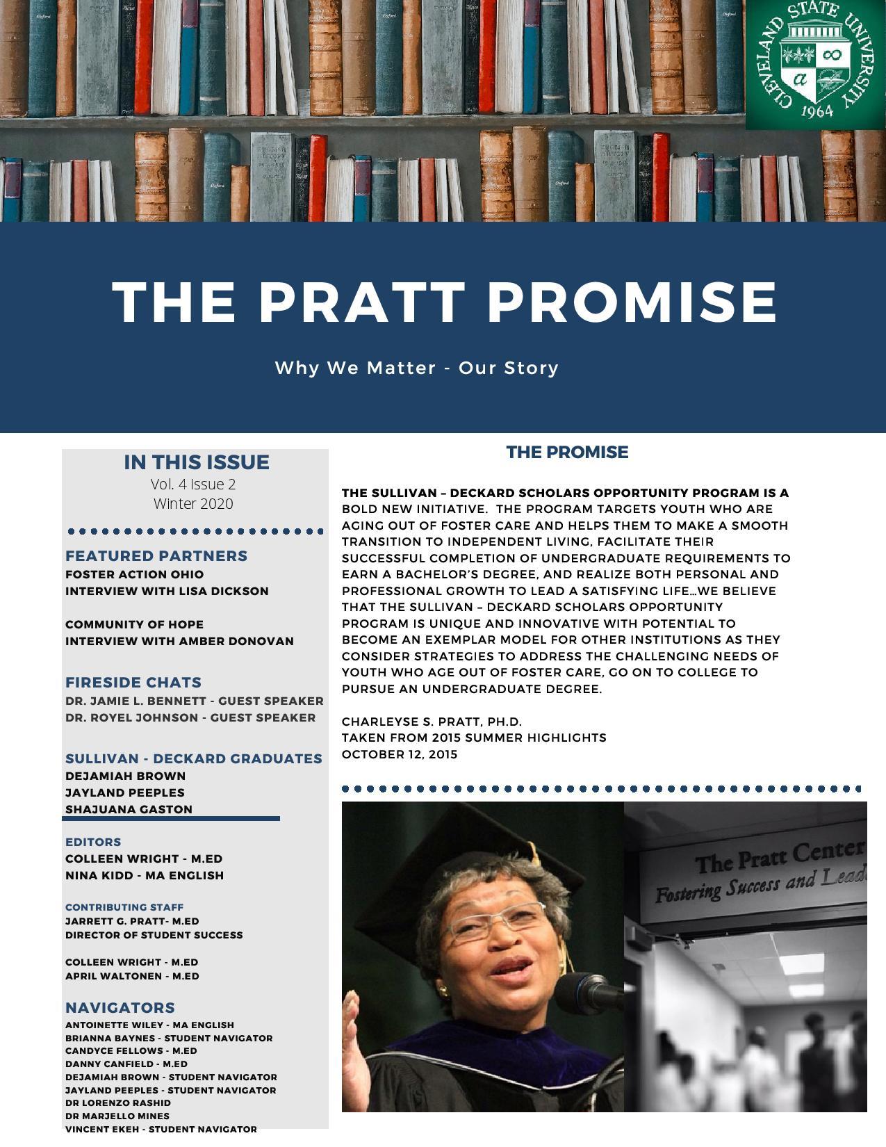 Pratt Center Newsletter-Spring Semester 2021