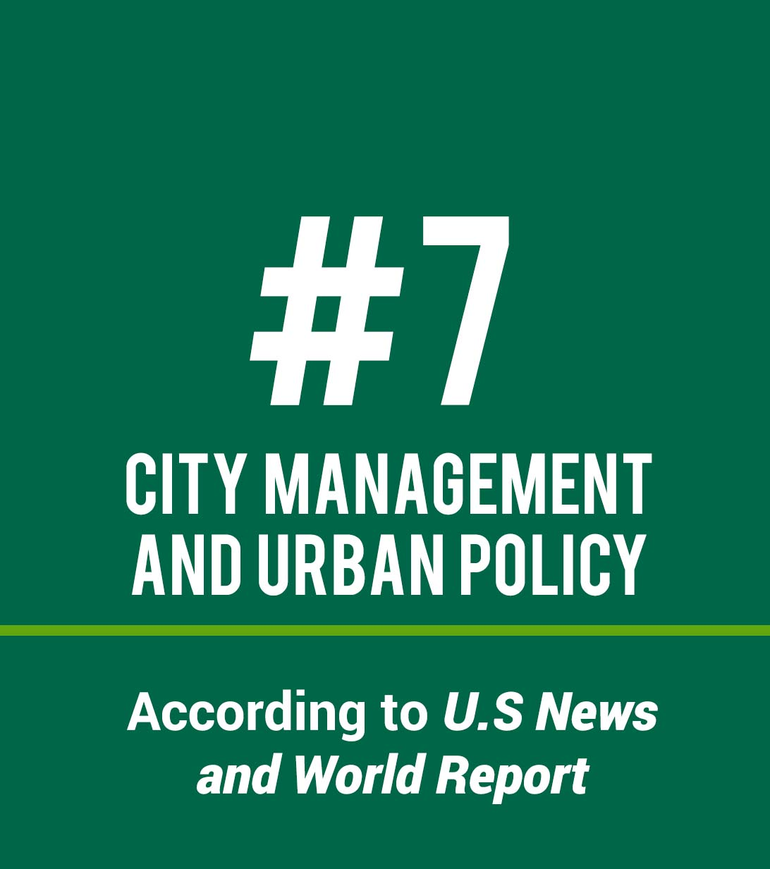 Urban Programs Ranked #7