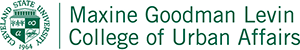 Maxine Goodman Levin College of Urban Affairs Logo