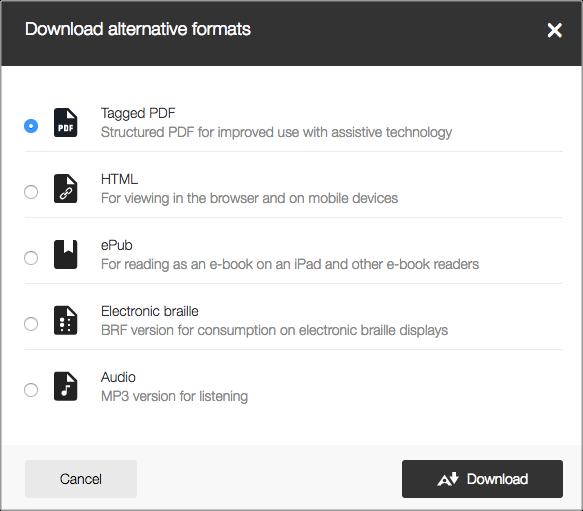 Ally Download Alt Formats