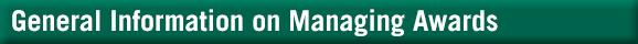 Managing Awards
