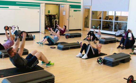 Bodypump class at the CSU Rec Center