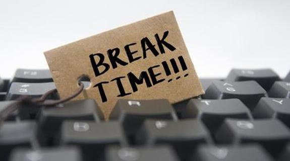 break time card in keyboard