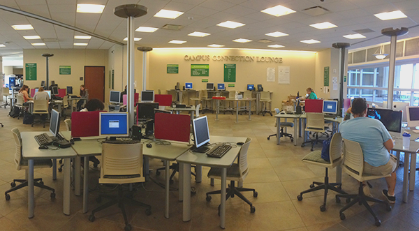 wide-angle view of lab