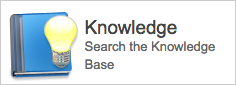 Click the Knowledge button to view the Easy Knowledge Base