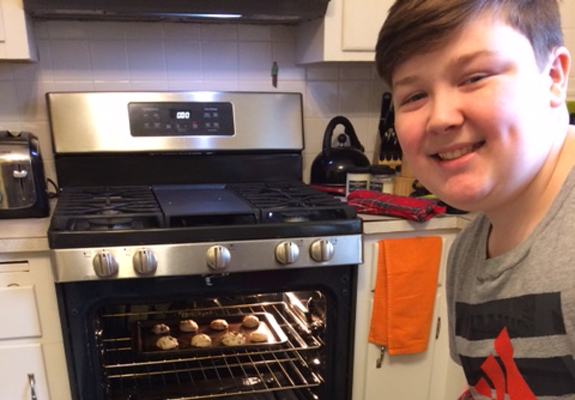 cookie-baking with CSU Rec's virtual camp
