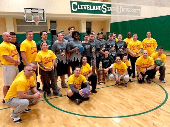 Cleveland Police and CSU Club Dodgeball Team