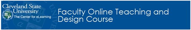 Faculty Orientation Course Banner