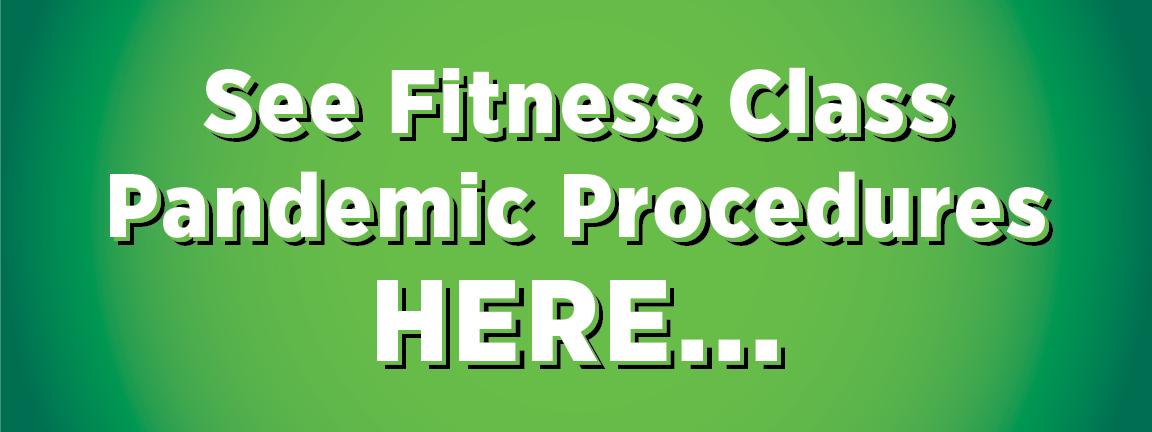 fitness class procedures button