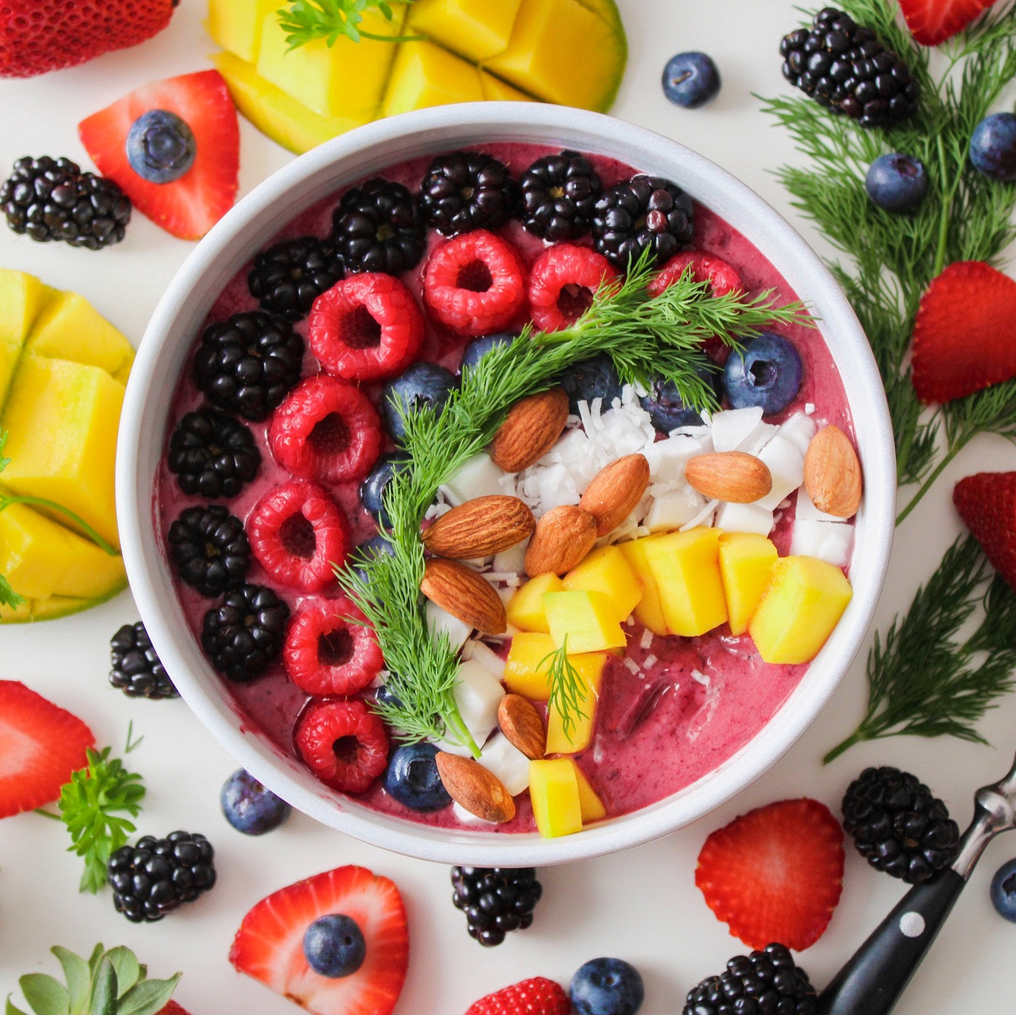 healthy breakfast fruit nuts college