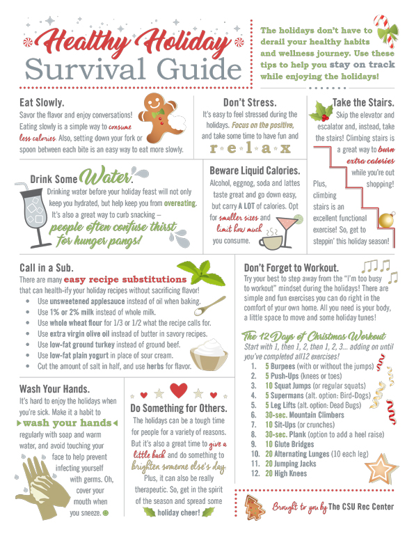 Healthy Holiday Survival Guide infographic