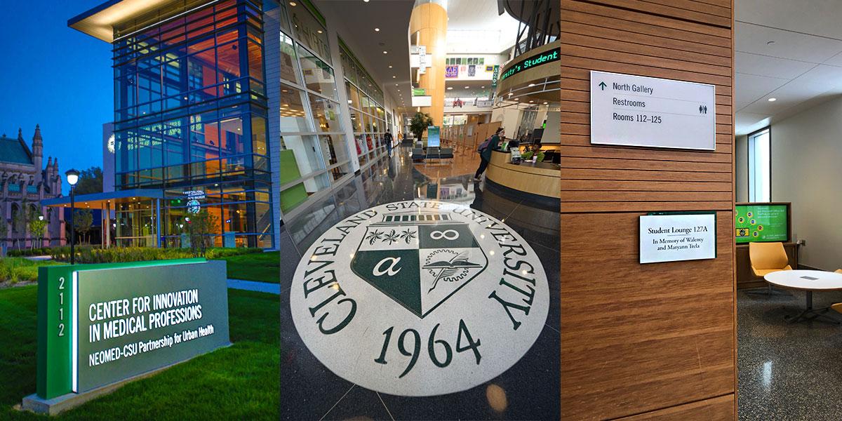 examples of signage on CSU campus