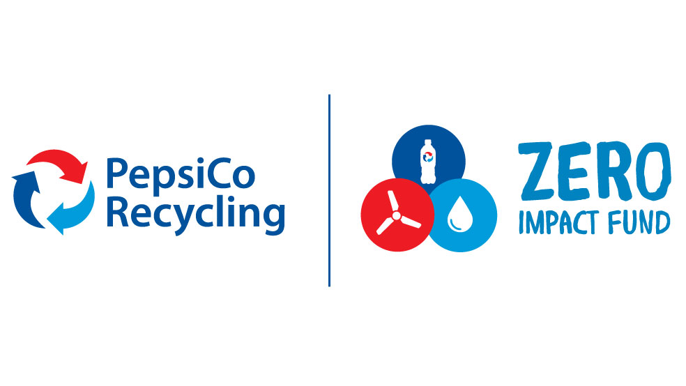 Logo of Pepsi Company Recycling and Pepsi's Zero Impact Fund