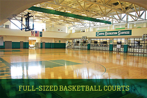 Main Gym with full-sized basketball courts