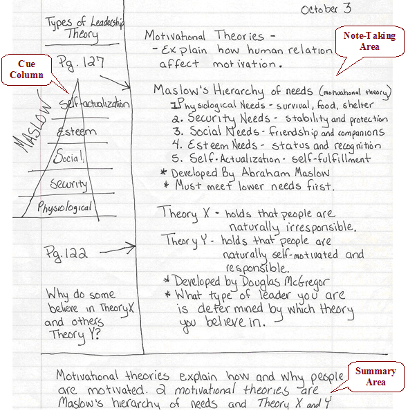 """cornell note system martin luther king Other martin luther king, jr, martin luther king, jr, delivers his """"i have a dream"""" speech questions at  it would be easier if this method of note taking was given as a graphic organizer or the teacher."""