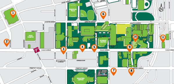 Langston University Campus Map.Student Housing Options Cleveland State University