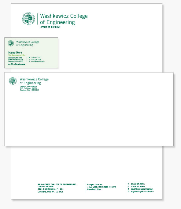 College/Division Stationery
