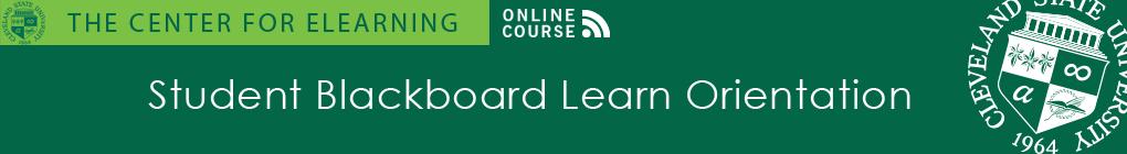 Student Blackboard Orientation Banner