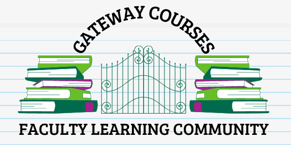 Gateway Courses Faculty Learning Community archway with books