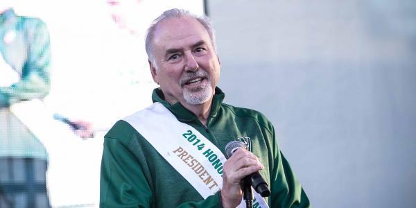 CSU President Ronald M. Berkman | 50th Anniversary Block Party, September 2014
