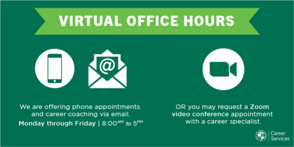 Career Services Virtual Office Hours