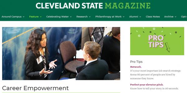 Cleveland State Magazine Career Empowerment