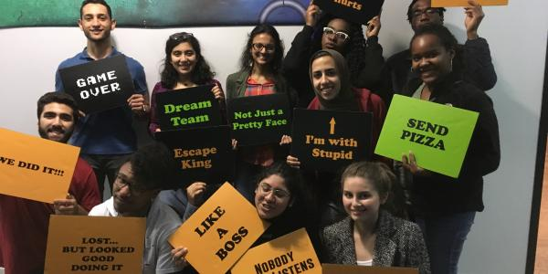 Scholars take on an escape room