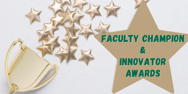 Trophy & stars for Faculty Champion & Innovator Awardees