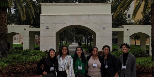 mcnair scholars at a conference