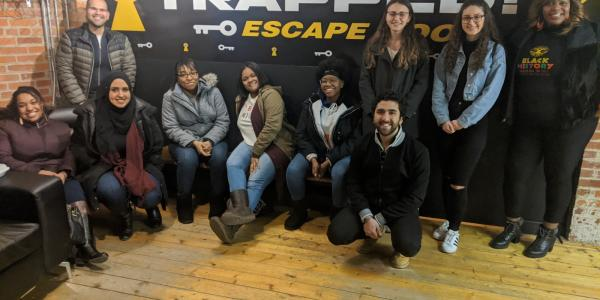 McNair Scholars at escape room