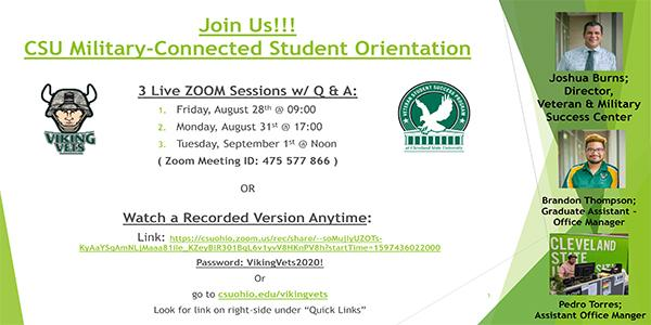 Viking Vets Orientation Flyer