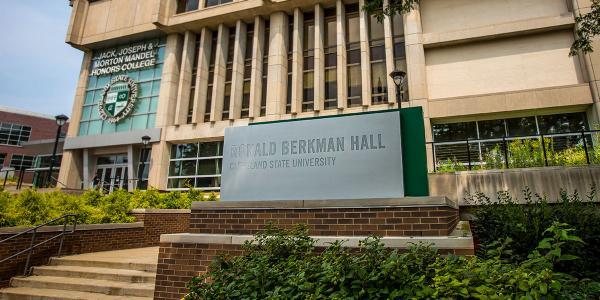 Berkman Hall building ID sign