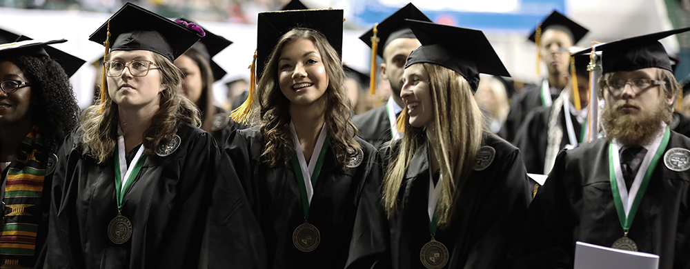 CSU students at commencement ceremony