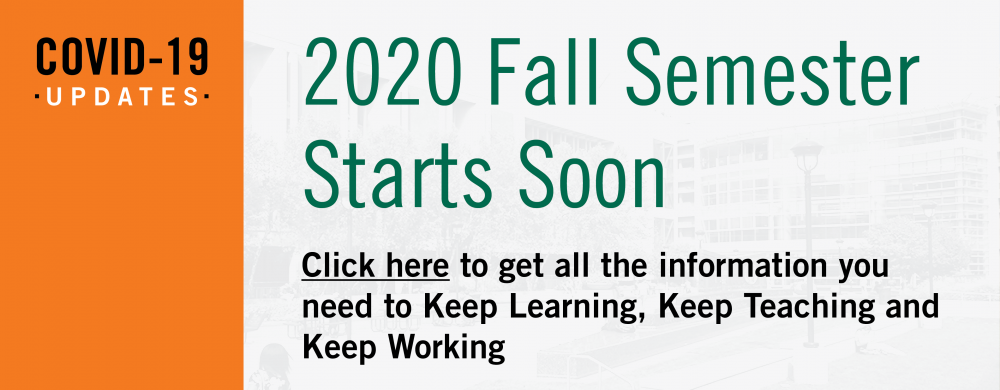 2020 Fall Semester Starts Soon