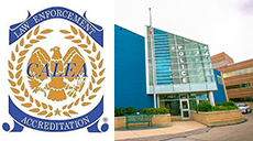CALEA Logo and Police Station