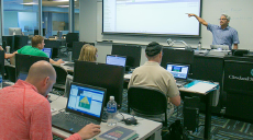 Photo of classroom and students