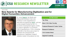 Latest issue of Cleveland State University Research Newsletter